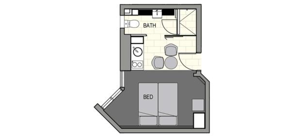 Studio Room Floorplan