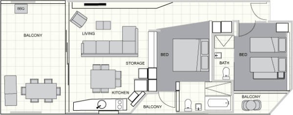 Two Bedroom Family Ground Floor