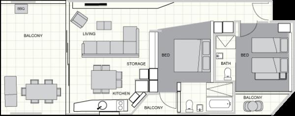 Two Bedroom Family Ground Floor