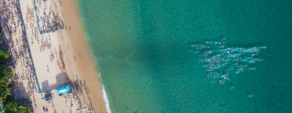 Beach Swim Start Drone Header3